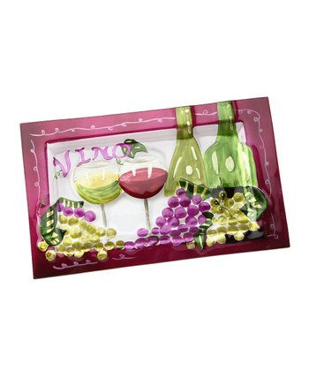 Green & Purple 'Vino' Tray