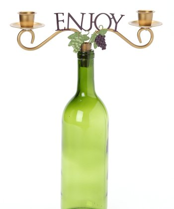 'Enjoy' Wine Bottle Topper