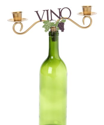 'Vino' Wine Bottle Topper