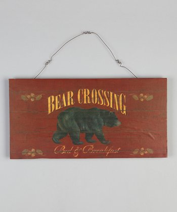 Red Bear Wood Sign