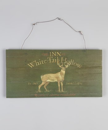 Black Deer Wood Sign