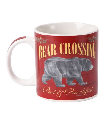 Red 'Bear Crossing' Mug