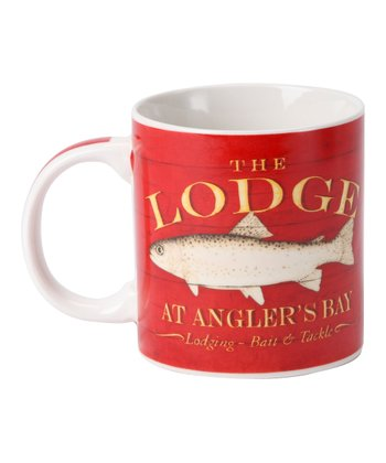 Red 'The Lodge' Mug