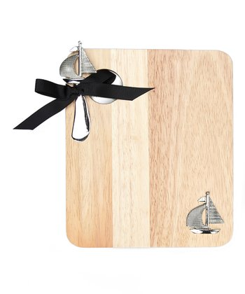 Sailboat Cheese Board & Knife