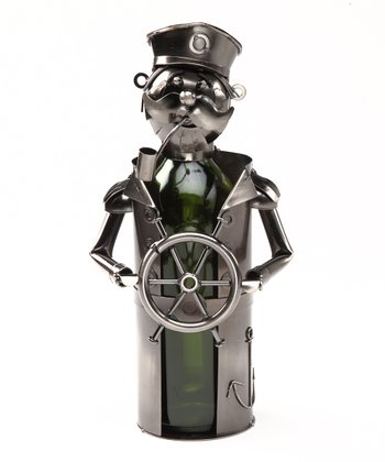 Wheel Nautical Metal Bottle Holder