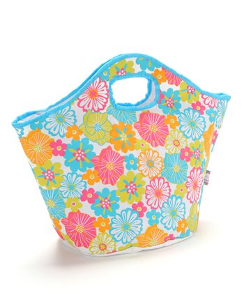 Tropical Floral Insulated Tote