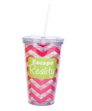 'Escape Reality' Tropical 18-Oz. Tumbler