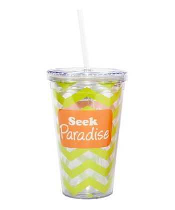 'Seek Paradise' Tropical 18-Oz. Tumbler