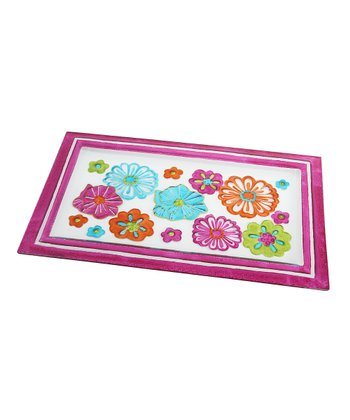 Pink Tropical Flower Serving Tray