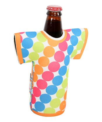 Polka Dot Tropical T-Shirt Wine Bottle Cover