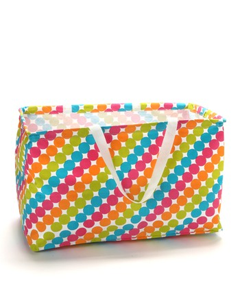 Tropical Dot Krunch Small Rectangular Tote