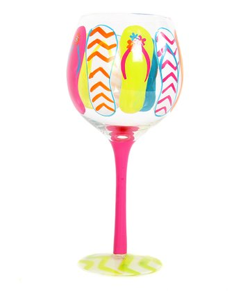 Pink Flip-Flop Wine Glass