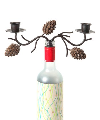 Small Pinecone Wine Bottle Candelabrum