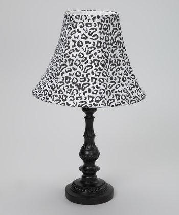 Black & White Cheetah Lamp