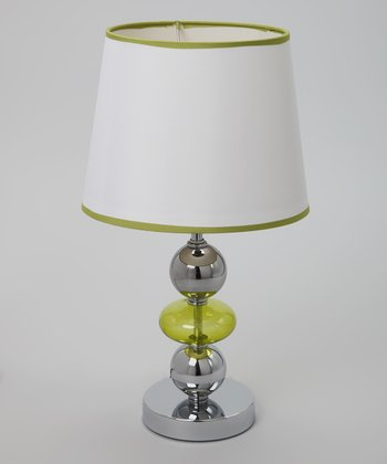 Lime Green Chrome & Glass Lamp