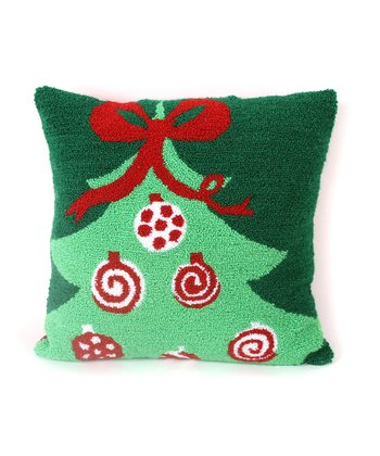 Christmas Tree Hooked Pillow