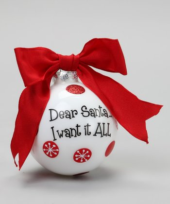'Want All' Sassy Ornament