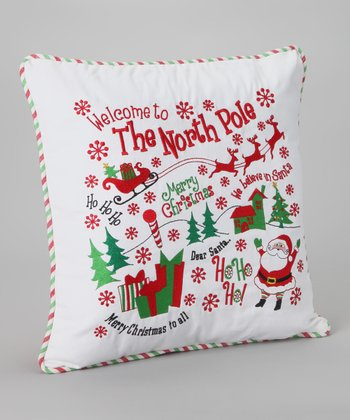 White 'North Pole' Pillow