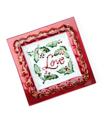 'Love' Holiday Sentiment Plate
