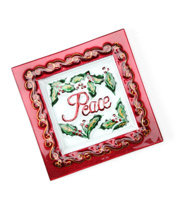 'Peace' Holiday Sentiment Plate