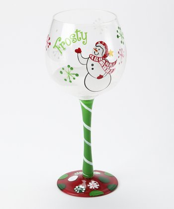 'Frosty' Snowman Wine Glass