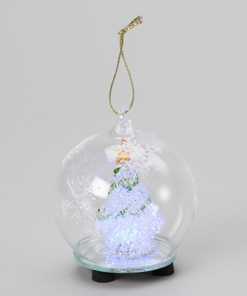 Green Garland Tree LED Ornament