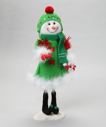 Lime Green Wire Snowman Figurine