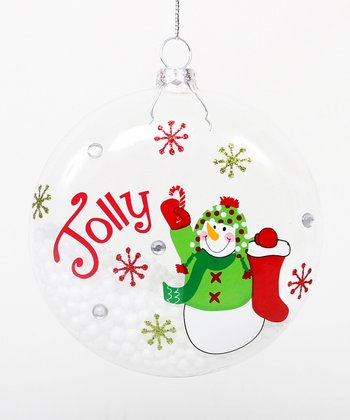 'Jolly' Snowman Ornament