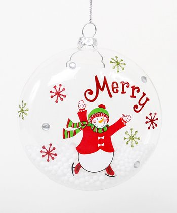 'Merry' Snowman Ornament