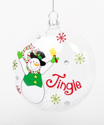 'Jingle' Snowman Ornament