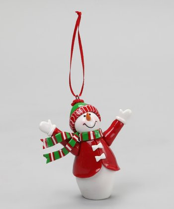 Red Suit 3-D Snowman Ornament