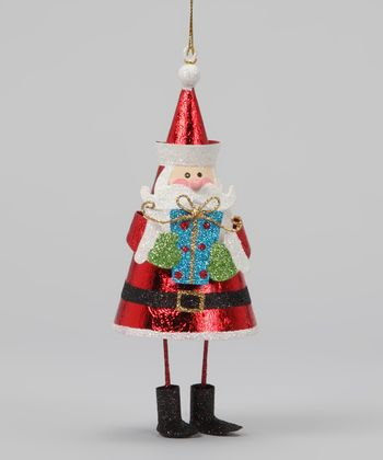 Santa & Gift Dangle Ornament