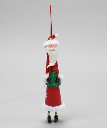 Tree Santa Cone Ornament