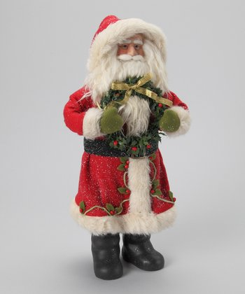 Wreath Santa Ornament