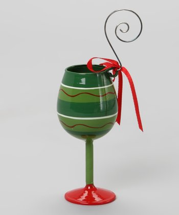 Green Wine Glass Ornament