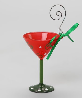 Red Martini Glass Ornament