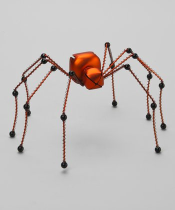 Orange & Black Spider Bell