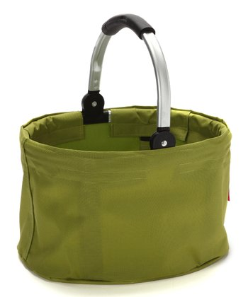 Green Small Folding Market Basket