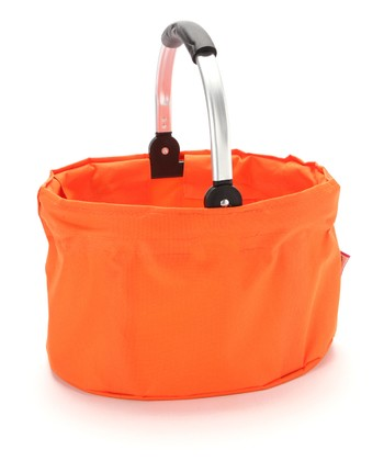 Orange Large Folding Market Basket