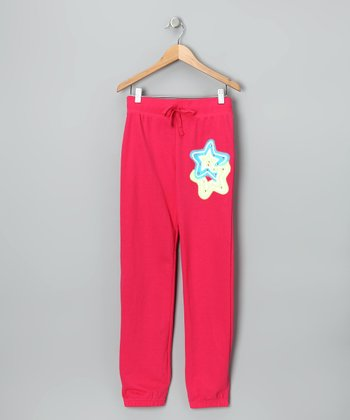 Pink Star & 'Dream' French Terry Sweatpants