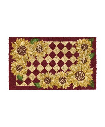 Sunflower Check Doormat