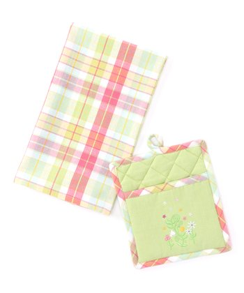 Spring Garden Dish Towel & Pot Holder