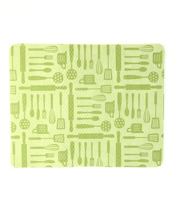 Leaf Green Utensils Drying Mat