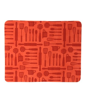 Mecca Orange Utensils Drying Mat