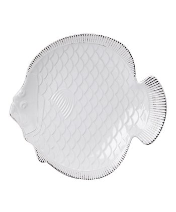 White Nautical Fish Plate