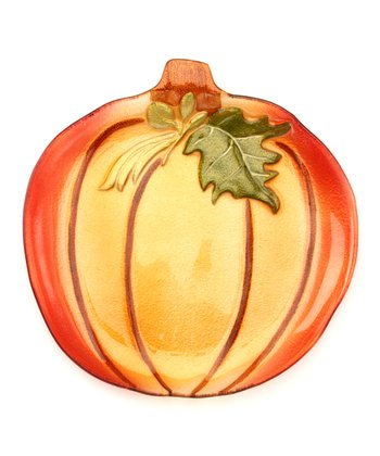 Harvest Pumpkin Serving Plate
