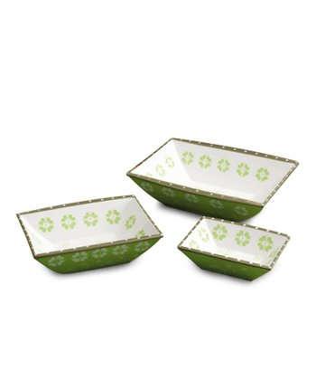 Leaf Green Serving Dish Set