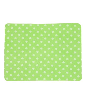 Design Imports Lime Polka Dot Drying Mat