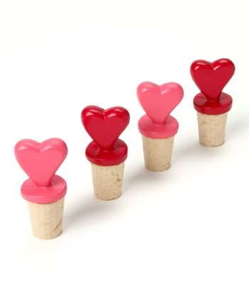 Design Imports Sweetheart Bottle Stopper Set