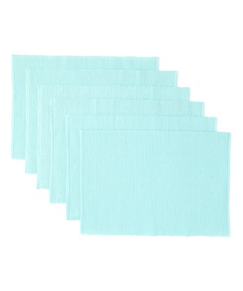Blue Frosting Place Mat - Set of Six
